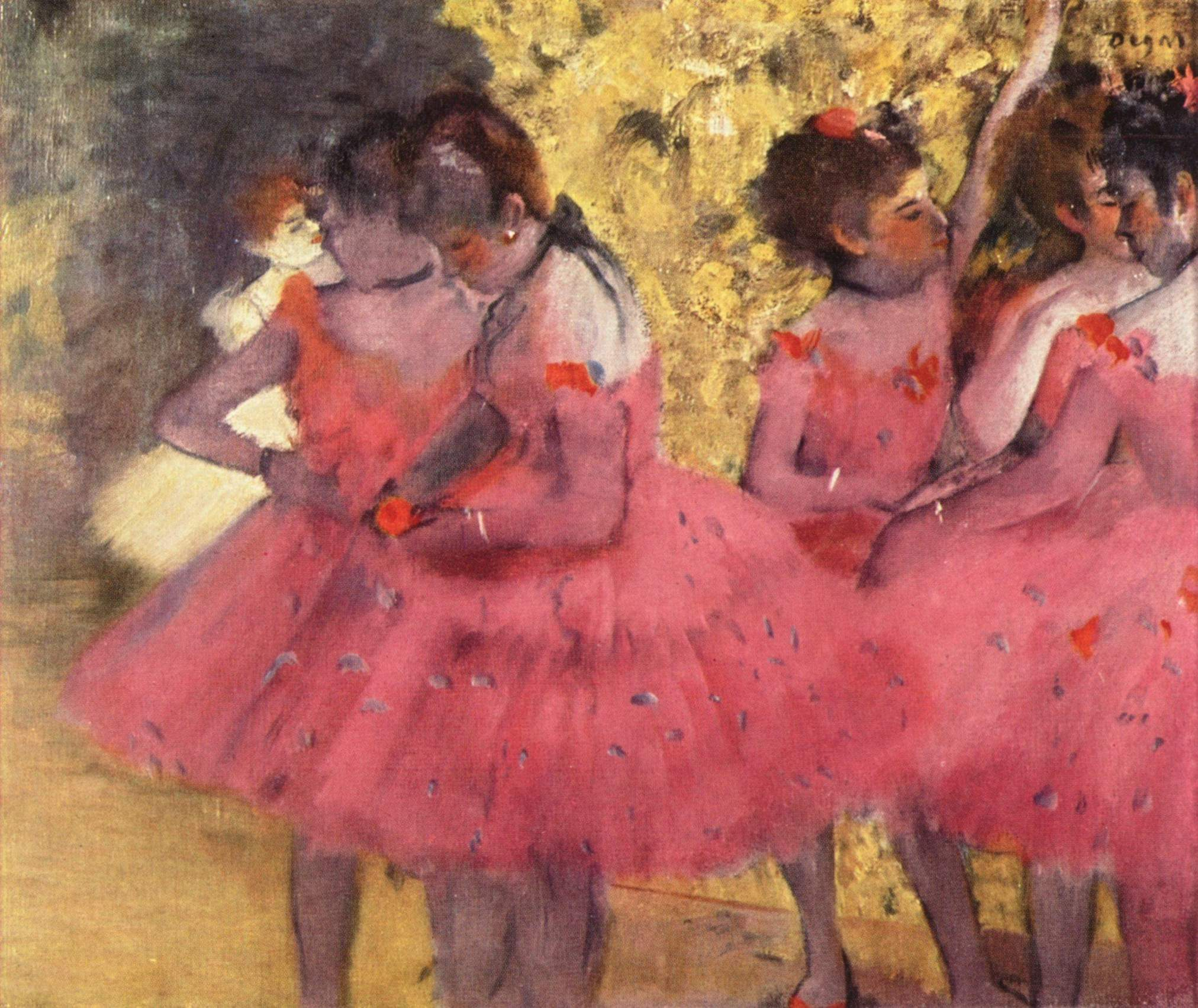 the-pink-dancers-before-the-ballet-1884